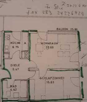 Gepflegte 2-Zimmer-Etagen-Wohnung mit umlaufendem Balkon und Einbauküche in Schwabing-West, München
