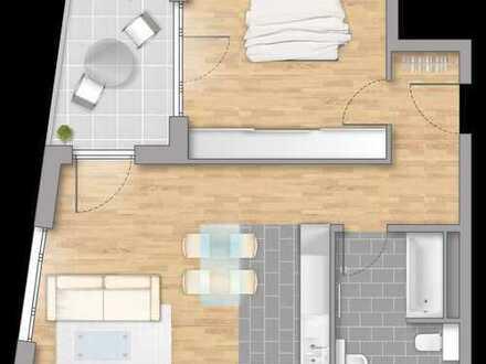 ++Kompakt geschnittene 2-Zimmer-Wohnung mit Westloggia++