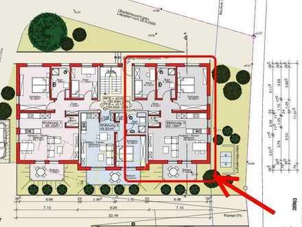 Erstbezug mit Balkon: schöne 3-Zimmer-Erdgeschosswohnung in Eppingen