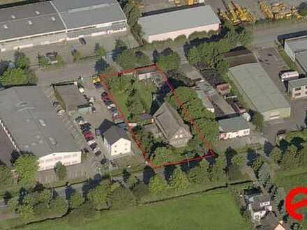 3 Vollgeschosse + Kellergeschosse! 2.063 m² Gewerbegrundstück am Inselpark. GRZ 0,6 und GFZ 1,6