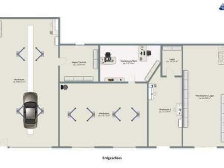 *Jede Menge Platz für Ihre Selbstständigkeit! 334 m² Nutzfläche, 3500 m² Grd.*