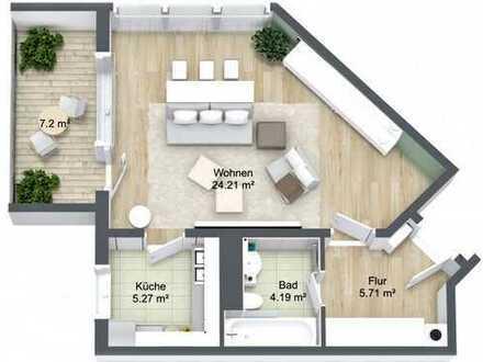 Moderne, äußerst gepflegte DG-Wohnung mit sensationellem Blick