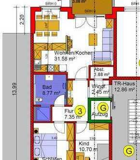 Erstbezug: ansprechende 3-Zimmer-Wohnung zzgl. Küche mit Essplatz mit Balkon in Erlenbach -Barrieref