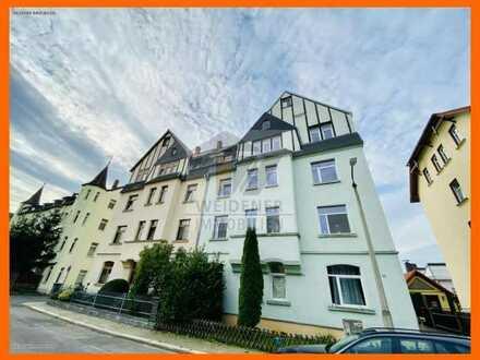 Schnäppchen!! 4 Raum DG-Wohnung mit Mietergarten und Bad mit Wanne in Weida!