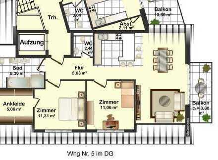Tolle 3,5-Zimmer-Eigentumswohnung mit Balkon in Remchingen-Nöttingen