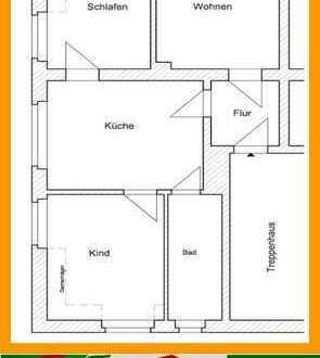 Kleine 3-Raum Wohnung in ländlicher Gegend - Dachgeschoss
