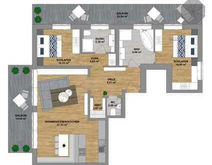 Im Herzen von Sonthofen - attraktive Neubauwohnung im Dachgeschoss mit Tiefgarage zu verkaufen.