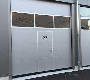 XXL- Garage für Wohnmobil, Oldtimer etc. mit Wohnmobil-Service-Station
