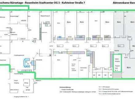 Büro/Praxisetage in bester Citylage in Rosenheim zu rd. 600 qm