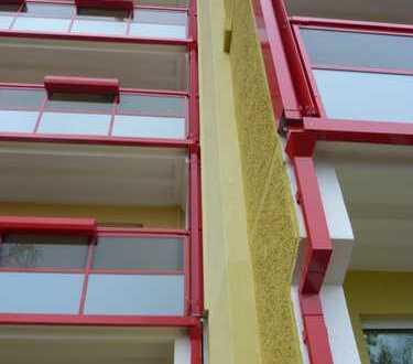 Ein-Raum-Wohnung mit Aufzug und verglastem Balkon