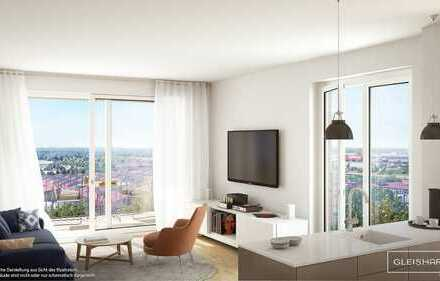 Wohnen mit Aussicht! Lichte 3-Zimmer-Wohnung mit Süd-Loggia in zukunftsweisender Umgebung