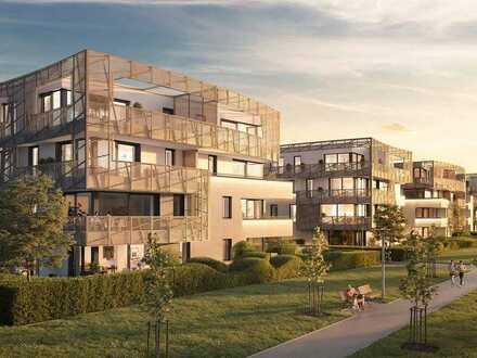 Einzigartig, designed by Libeskind: 2-Zimmer-Wohnung mit 2 Balkonen in Frankfurt-Riedberg