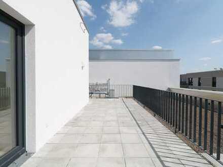 Mit besten Aussichten - 4-Zi-Penthouse mit Balkon und Dachterrasse zum Erstbezug direkt am HBF!
