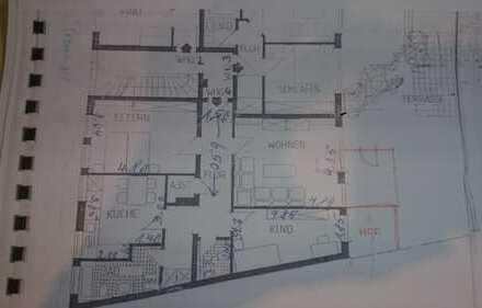 Vermiete schöne helle 3 Zimmer Wohnung mit großer Terasse