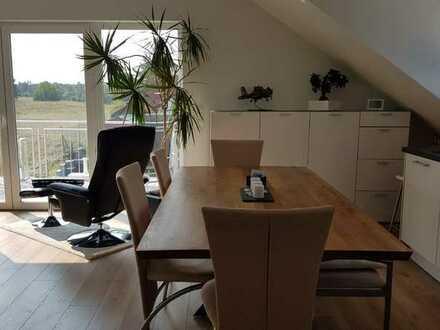 Erstbezug: exklusive 3-Zimmer-DG-Wohnung mit EBK und Balkon in Sandhausen