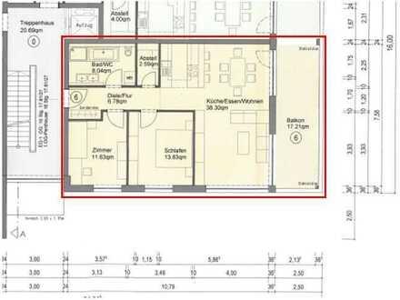 Moderne 3,5-Zi.- Wohnung mit EBK, großem Balkon und Carport in Kupferzell