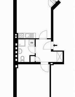 Gepflegte 1-Zimmer-Wohnung mit Balkon in Dortmund City