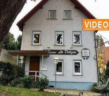 Heiningen - Gaststätte mit Tradition, schöne Außenterrasse, 2 Wohnungen in zentraler Lage