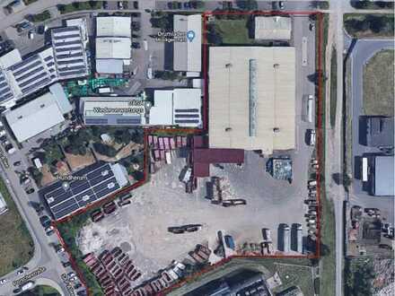 Gewerbegrundstück mit 16.582qm mit 3000qm Halle und 150qm Bürogebäude zu verkaufen
