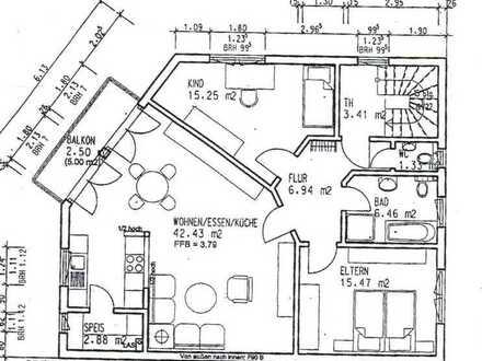 Gepflegte 3-Zimmer-Wohnung mit Balkon und Einbauküche in Bürstadt