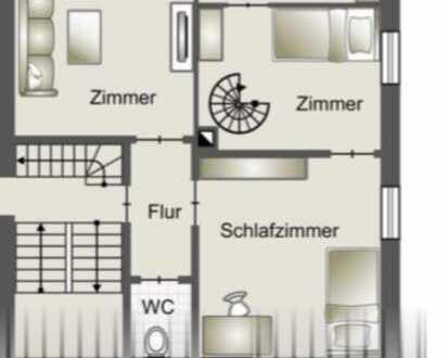 Maisonette Wohnung 5 Zimmer
