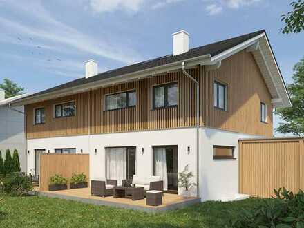 Natürlich Wohnen im Massiv-Holzhaus, DHH- Neubau in Bad Feilnbach