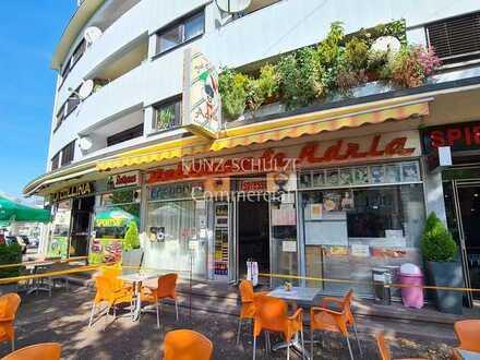 Eiscafé-Fläche in Ecklage mit Außenbestuhlungsmöglichkeit