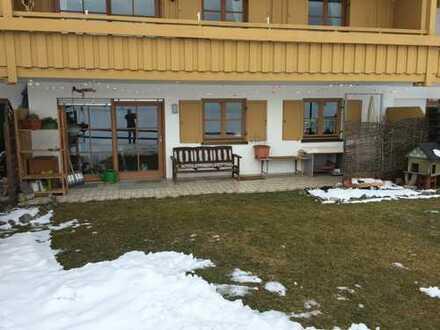 Gepflegte 2-Zimmer-EG-Wohnung mit Gartenanteil in Weitnau
