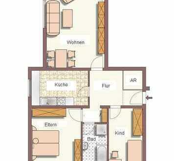 3 Zimmer-Wohnung mit Balkon und Kfz-Stellplatz in Topp-Lage, 75m²
