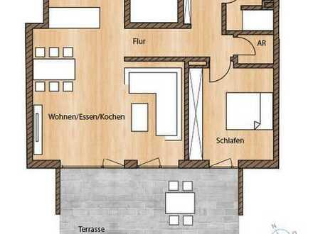 Großzügige 2-Zimmer-Neubau-Wohnung mit Gartenanteil in Erlangen!