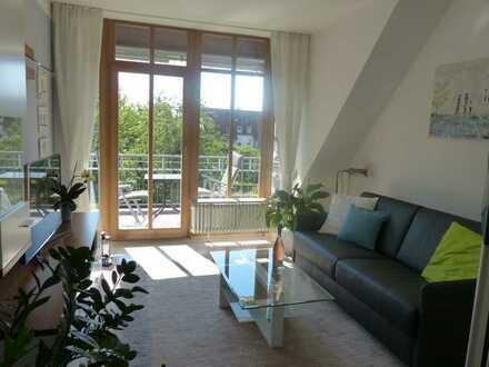 Stilvolle voll möblierte 2-Zimmer-Maisonette-Wohnung mit Balkon in Dachau