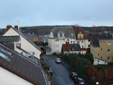 Helle Einzimmerwohnung, Dachterrasse mit Rheinblick