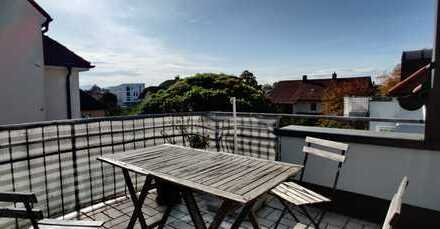 Lichtdurchflutete Galeriewohnung mit 2 Balkonen