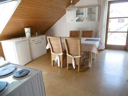 Sanierte 3-Raum-Dachgeschosswohnung mit Balkon und Einbauküche in Hahnbach