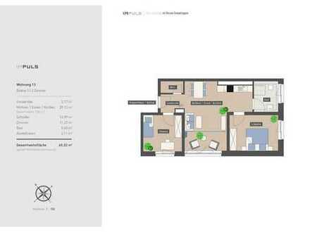 Raffinierte 3-Zimmer Wohnung mit verglastem Freisitz