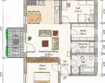 ***Exklusive 3 ZKB Wohnung - Zentral in Maikammer - mit Aufzug und West-Balkon***