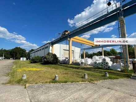 IMMOBERLIN.DE - Sehr attraktive Gewerbeimmobilie mit Freiflächen Produktions-/Lagerhalle & Bürotrakt