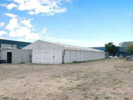 Industriehalle Leichtbauhalle mit befestigten Boden