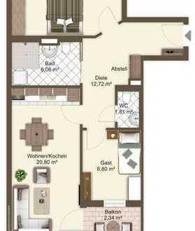 3-Zimmer-Seniorenservicewohnung in Nürnberg - Villa Nopitschpark!! -Neubau-