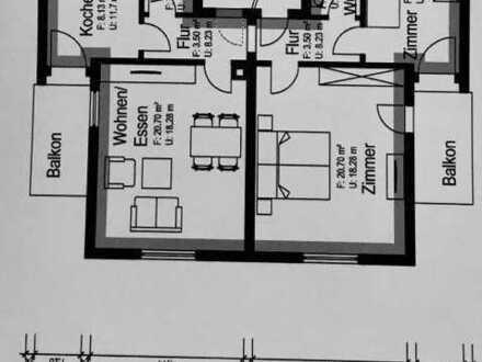 3-Zimmer-Wohnung/Einbauküche/2 Bäder/2 Balkone