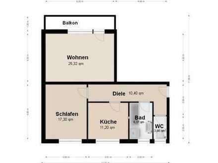 Helle 2 Zimmer - Wohnung nähe Ostpark