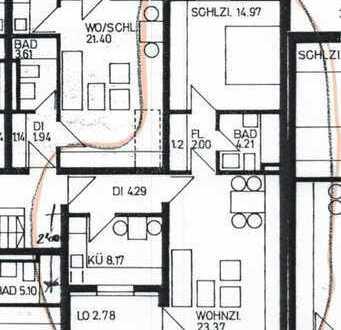 Vollständig renovierte 2-Zimmer-Wohnung mit Balkon in Aichach