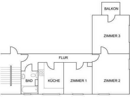 Gepflegte 3-Zimmer-Wohnung mit Balkon und Einbauküche in Bad Schwartau - Cleverbrück