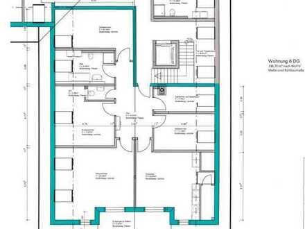 Erstbezug Zentrum Peiting: ansprechende 5-Zim.-DG Wohnung (2. Stock) mit Balkon und Aufzug