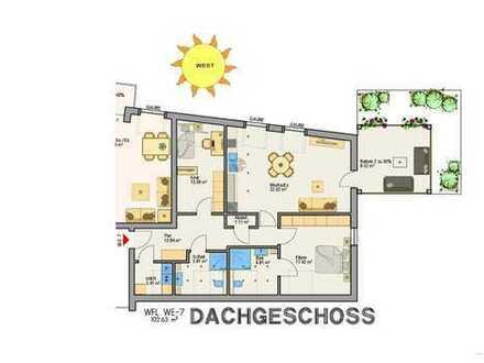 NW-Mußbach: 3-Zimmer-DG-Neubauwohnung mit Westbalkon und Lift und moderner Ausstattung