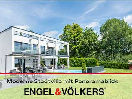 Moderne Stadtvilla mit Panoramablick