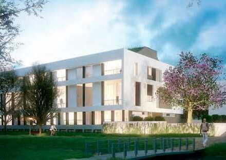 Erstbezug mit EBK und Balkon: stilvolle 3-Zimmer-Loft-Wohnung in Ulm mit Blick auf die Blau