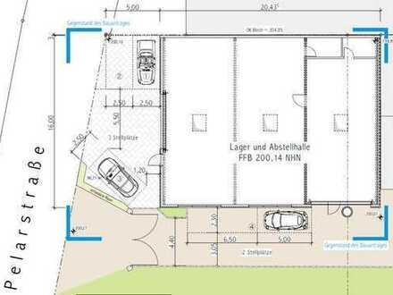 ***Neubau-Industriehalle im Gewerbegebiet von Michelstadt- Nähe B45***