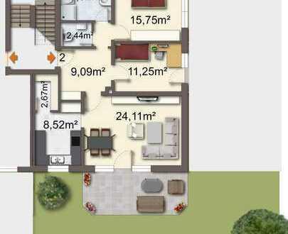 Erstbezug nach Sanierung: freundliche 3-Zimmer-Terrassenwohnung mit Balkon in Burgau