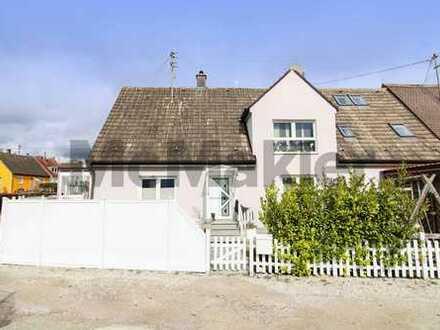 Großzügiges Familienheim: Renovierte DHH mit tollen Außenbereichen in naturnaher Lage bei Augsburg